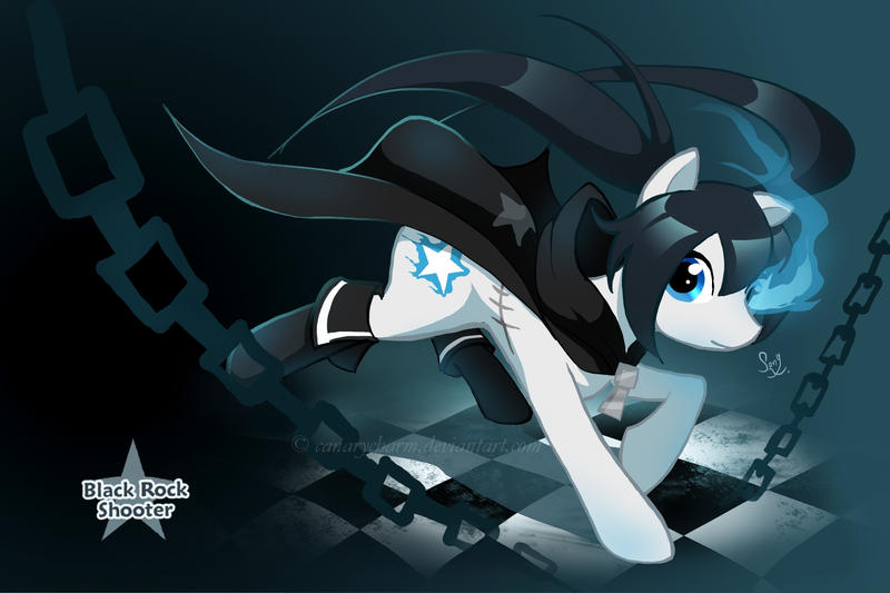 Black Rock Shooter: Pony by canarycharm