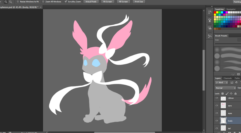Sylveon WIP by canarycharm