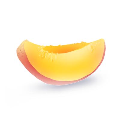 Peach slice by winechan on deviantart