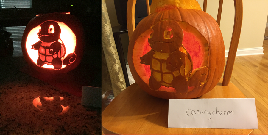 Squirtle Pumpkin (On and Off) by canarycharm