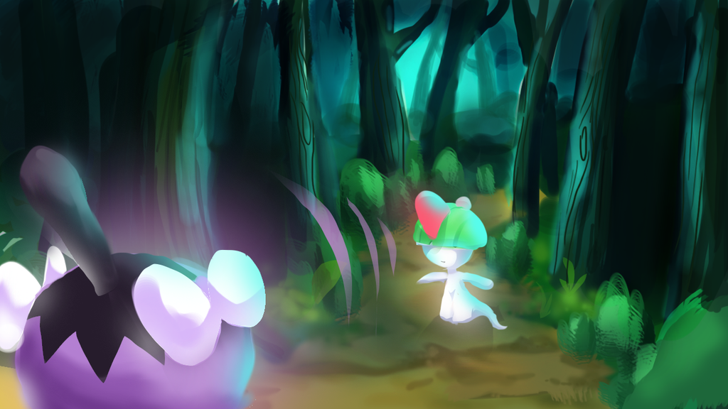 Ralts used confusion! by canarycharm