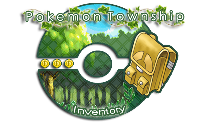 Pokemon Township: Valerie's inventory by canarycharm
