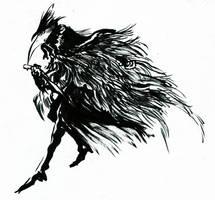 Bloodborne Inks: Eileen the Crow by JoCassidy