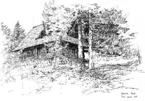The cabin on Turbacz, Gorce Mountains, Poland by onverra