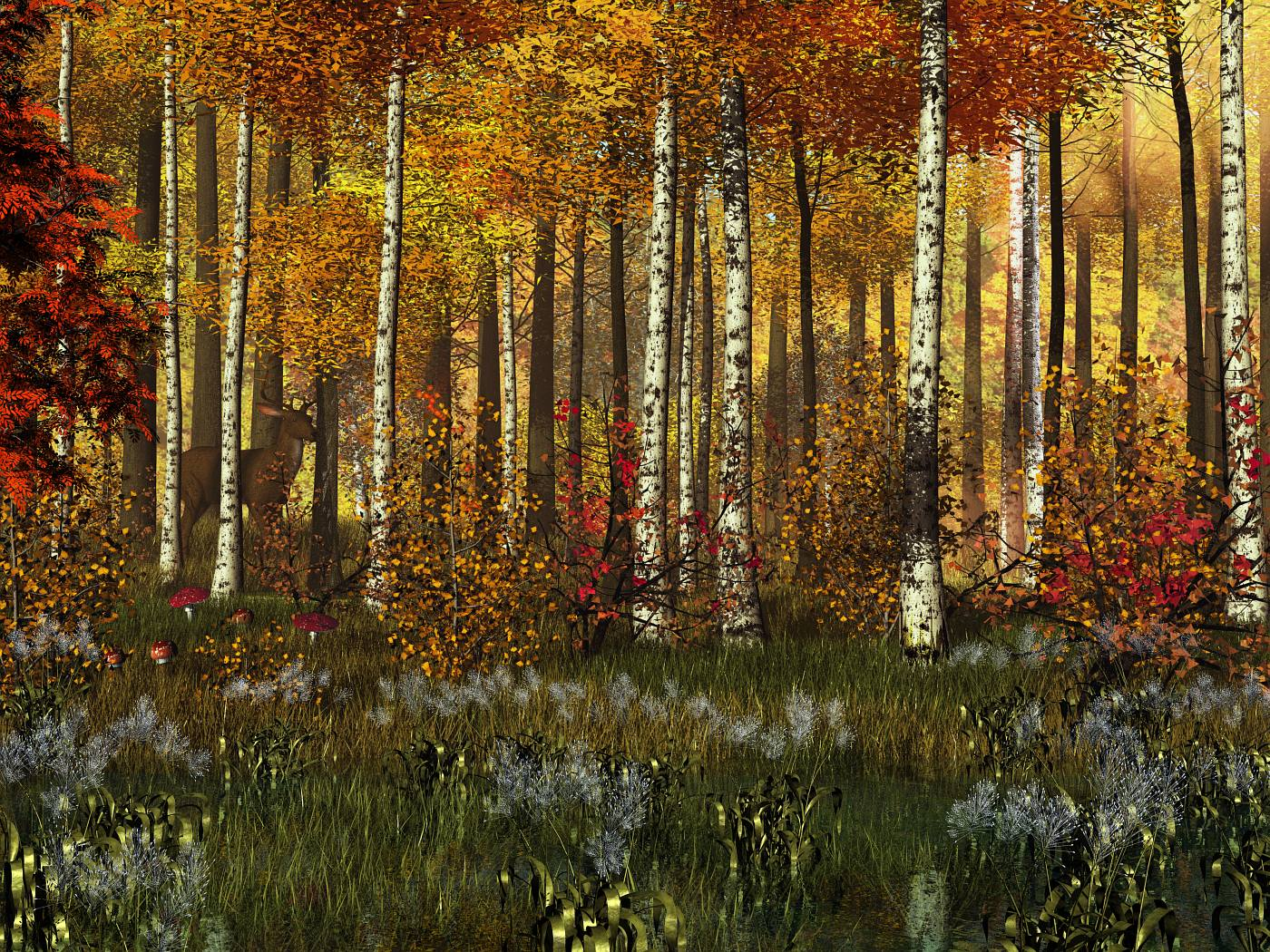 Golden Fall Forest by xmas-kitty