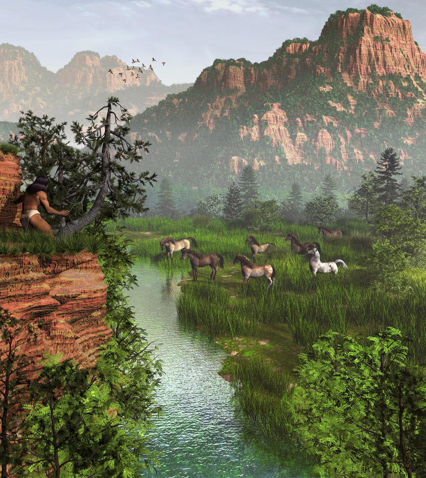 Valley of the Wild Horses by xmas-kitty