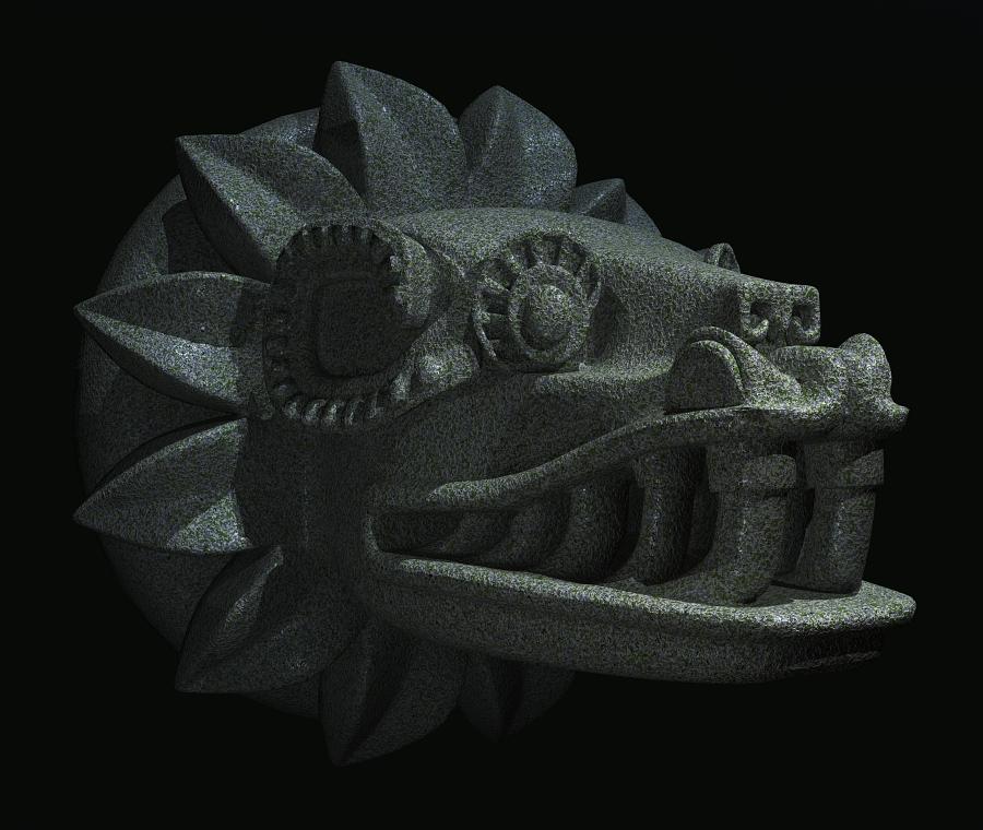 Quetzalcoatl Head by xmas-kitty on DeviantArt
