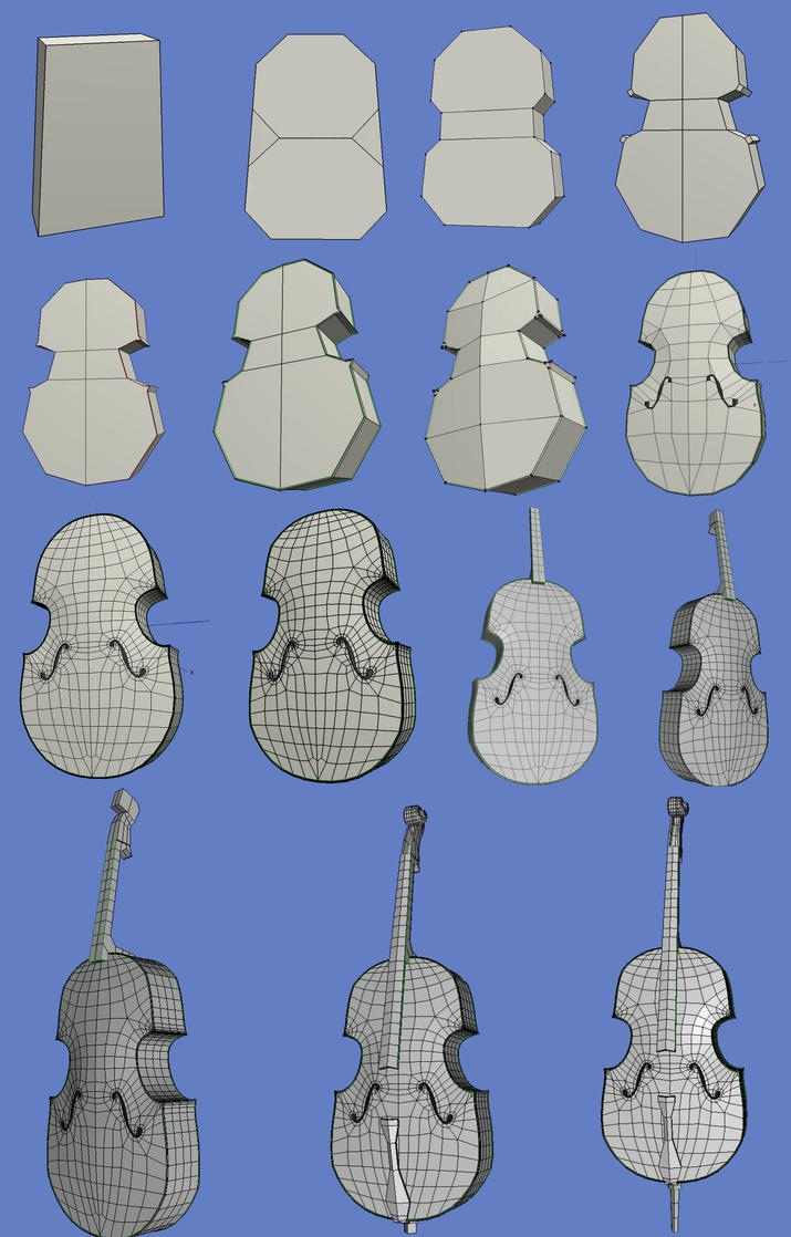 Cello in Wings3d WIP by xmas-kitty