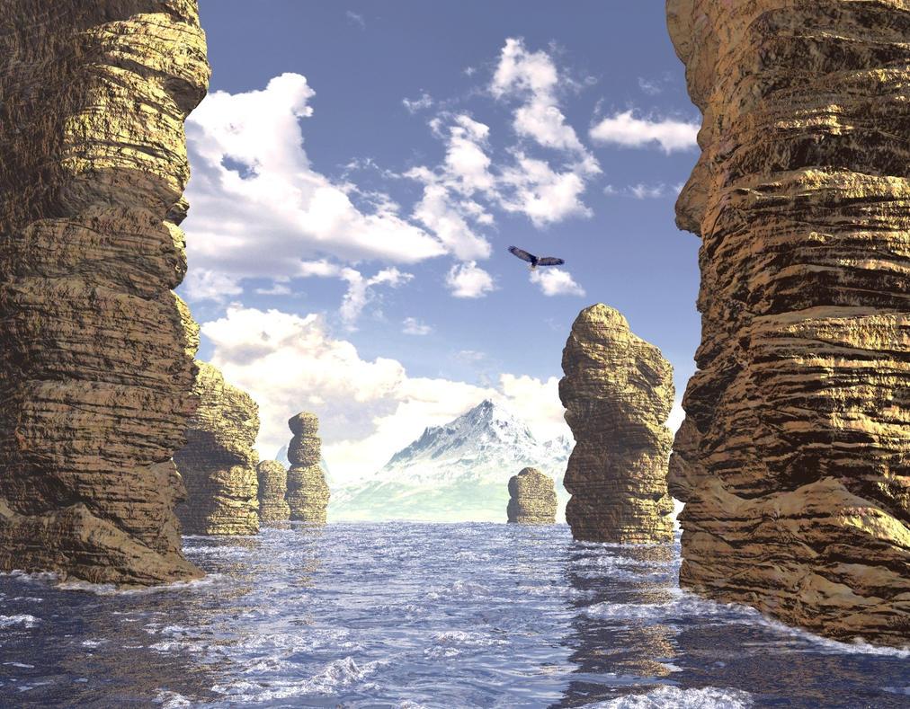 Shore Rocks by xmas-kitty