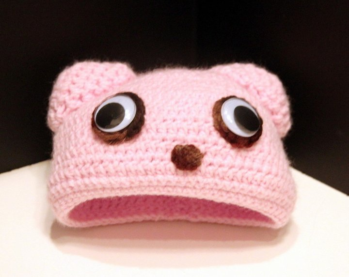 pink bear hat by andartist