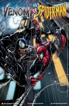 Venom vs Spiderman 11x17 Poster