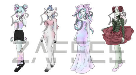 Monster Adopts - For sale by ZaffeeDraws