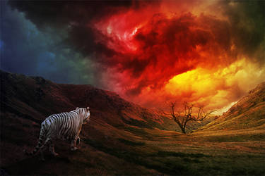 The White Tiger of Autumn by kevinleedrum