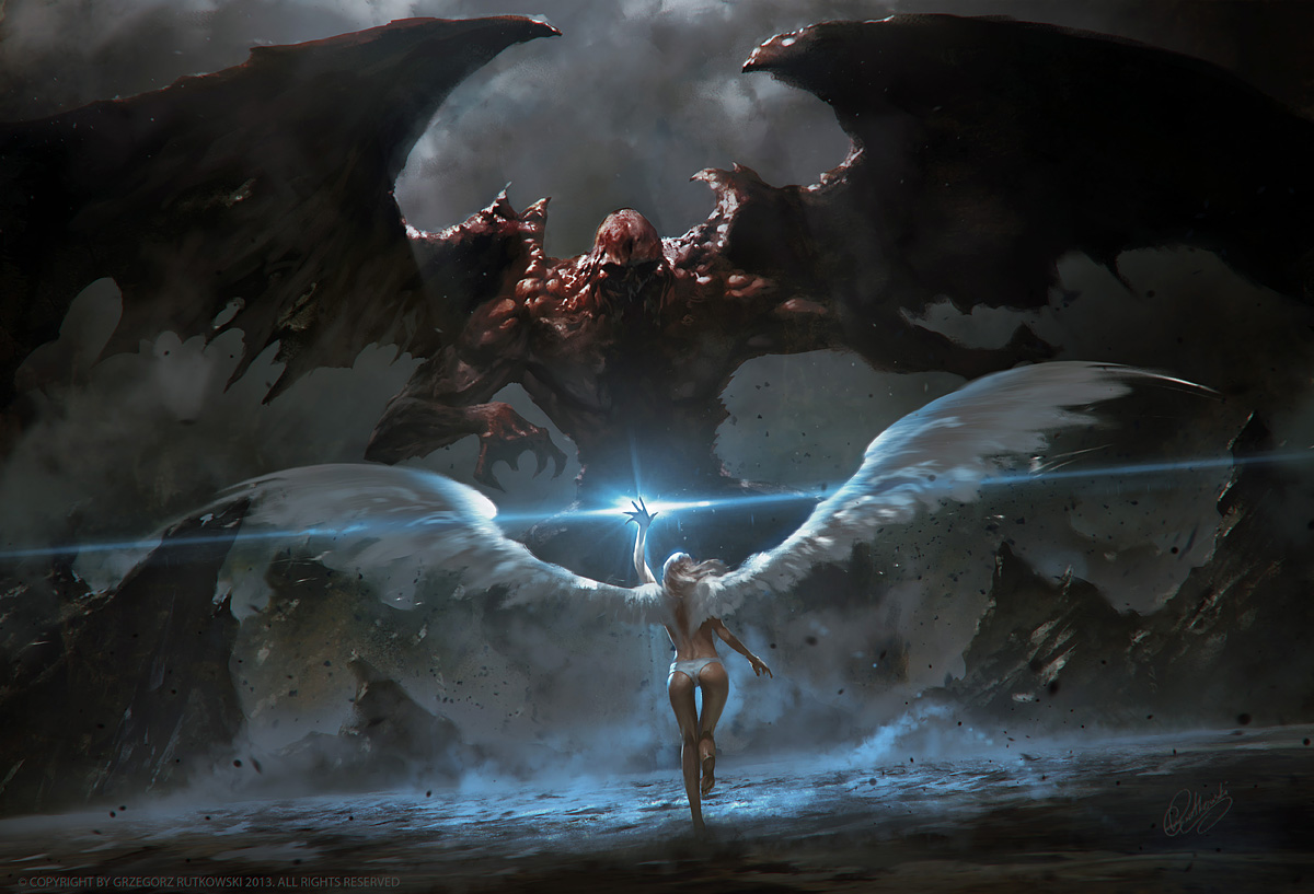angel vs devil - HD1200×900