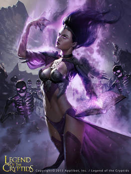 Witch Holding the Book of the Dead advanced