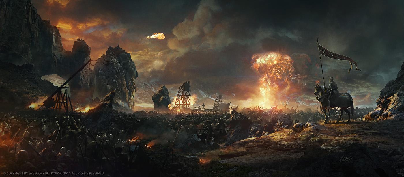 Hd Fantasy Battle Scene Wallpapers: Battlefield By 88grzes On DeviantArt