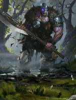 Garruk, the Veil-Cursed - Magic the Gathering by 88grzes