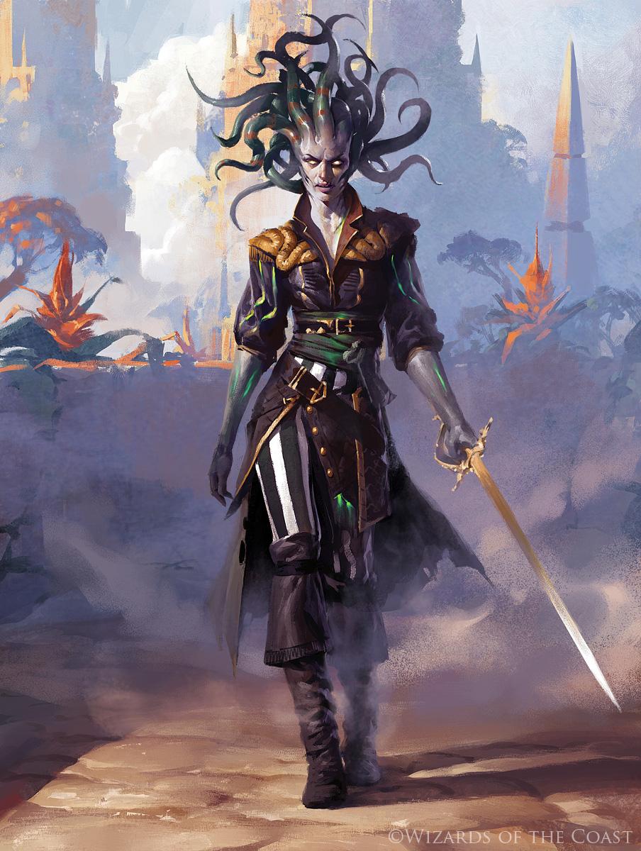Vraska, Scheming Gorgon - Magic the Gathering by 88grzes