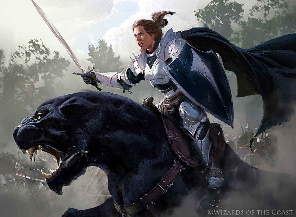 Aryel, Knight of Windgrace - Magic the Gathering by 88grzes
