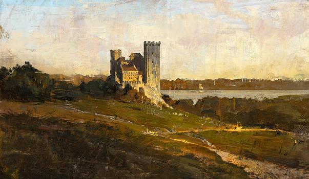 Castle landscape study