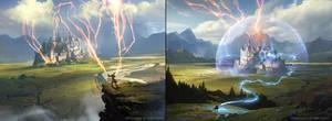 Wizard's Lightning - Wizard's Retort - Magic the G