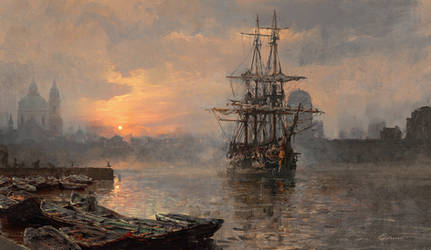 Harbor sunrise by 88grzes