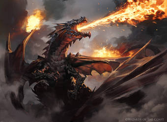 Drakuseth, Maw of Flames - Magic the Gathering by 88grzes