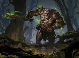 Barkhide Troll - Magic the Gathering