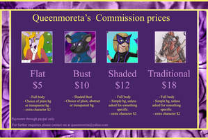 New Commission Price Sheet