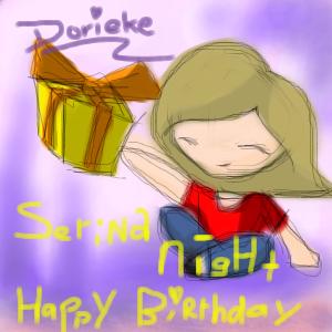 Happy Birthday SerinaNight by dorieke
