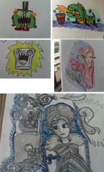Doodles 1 by mapgie