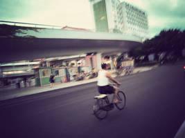 Man on bike by xindice