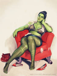 She Hulk Commision by clc1997