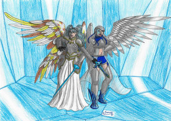 Ice armored angels
