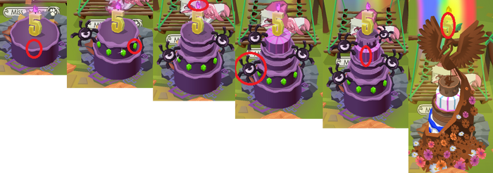 Where to Click (5th Birthday Cake) .:Animal Jam:.