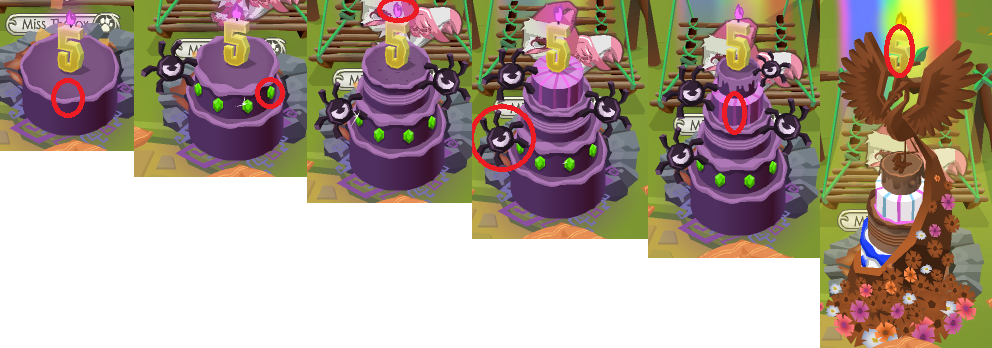 Where to Click 5th Birthday Cake Animal Jam by Liannakai on