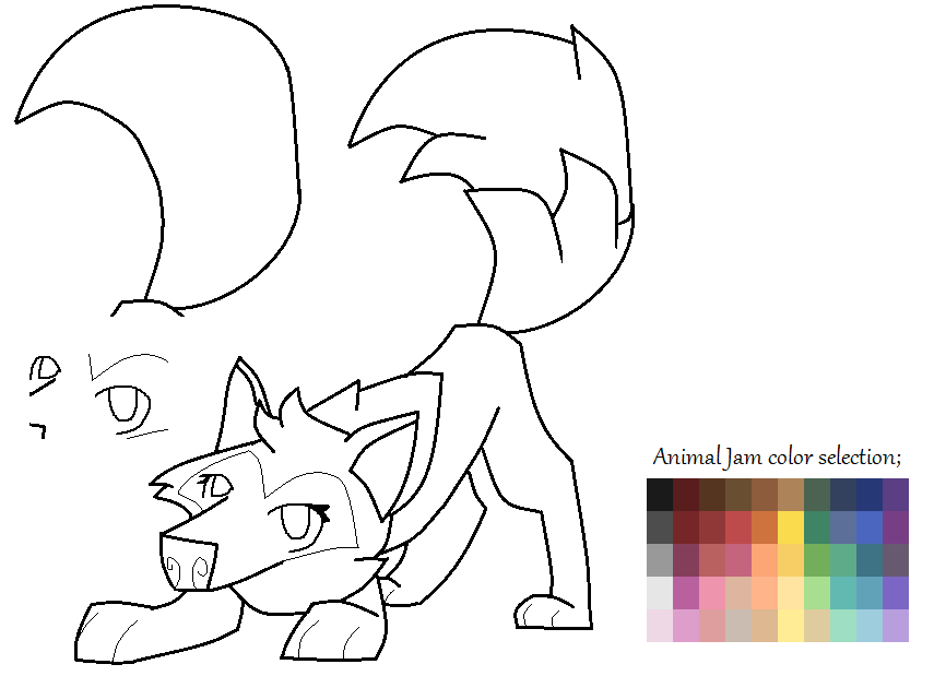 Artic wolf coloring pages of animals artic best free for Animal jam arctic wolf coloring pages