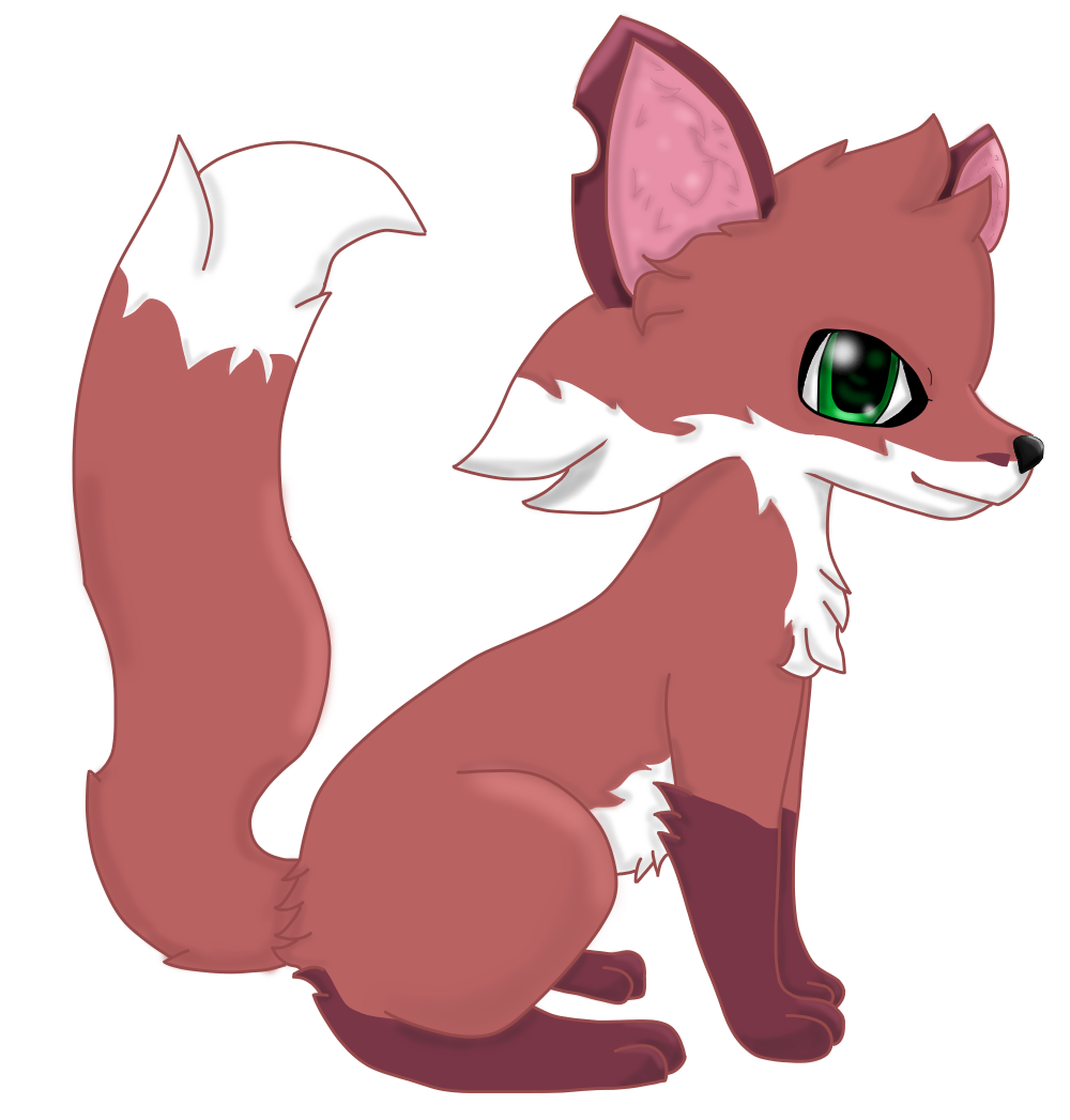 This is an image of Gratifying Animal Jam Fox Drawing