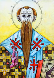 Icon of Saint Basil - traditional by Martvy