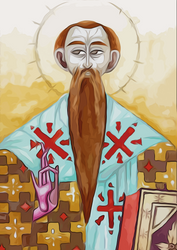 Icon of Saint Basil - digital by Martvy