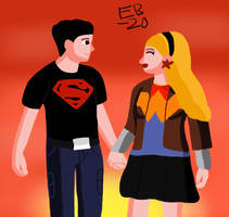 Superboy and Wonder Girl: Love and Sunset by Leck-Zilla