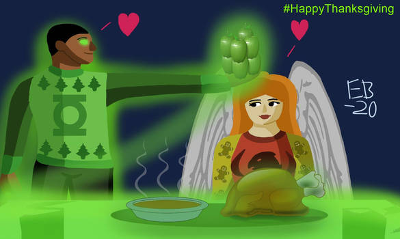 A Green Lantern and Hawkgirl Holiday Dinner!