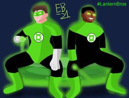 Green Lantern: Lantern Bros. Hal and John by Leck-Zilla
