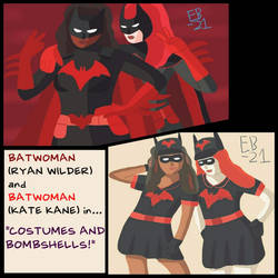 Batwoman: Costumes and Bombshells! #Multiverse by Leck-Zilla