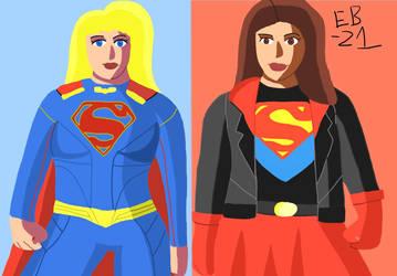 Supergirls: Kara Zor-El and Cir-El #Multiverse by Leck-Zilla