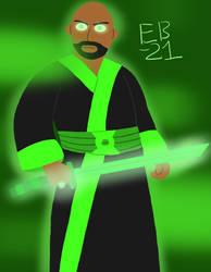 The Green Samurai Lantern by Leck-Zilla