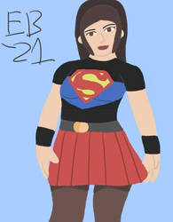 Supergirl (Cir-El) aka Caitlin: No coat, no probs by Leck-Zilla