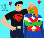 Superboy and Miss Martian having a good time! by Leck-Zilla