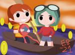 Scott Pilgrim: Going Coin Fishing w/ Ramona! by Leck-Zilla
