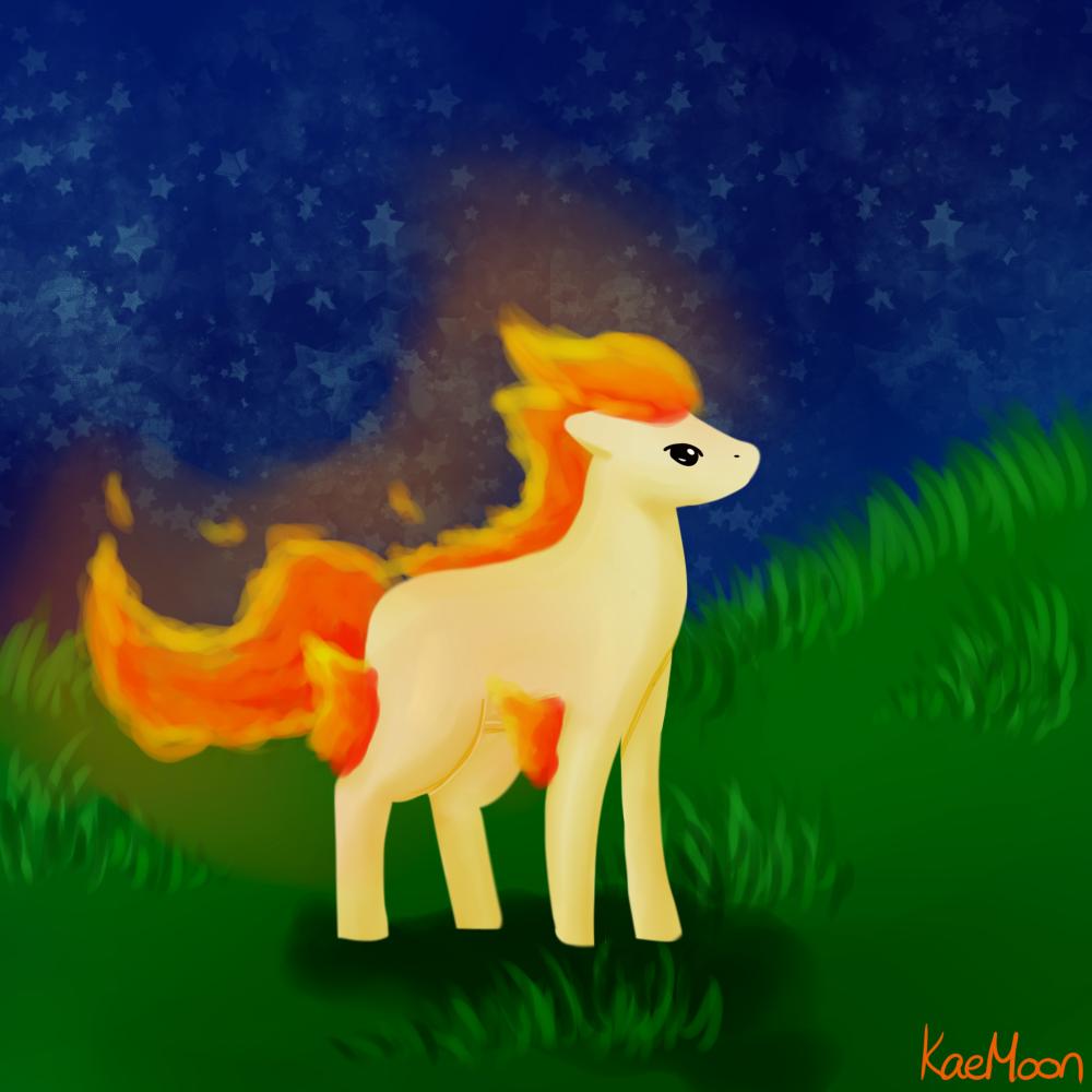 Ponyta by KuroeMoon